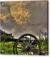War Thunder - The Clouds Of War 2a - 4th New York Independent Battery Above Devils Den Gettysburg Acrylic Print