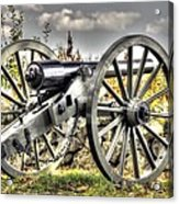 War Thunder - The Letcher Artillery Brander's Battery West Confederate Ave Gettysburg Acrylic Print