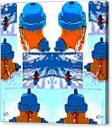 Warhol Firehydrants Acrylic Print