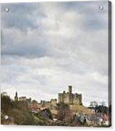 Warkworth Castle Above River Coquet Acrylic Print