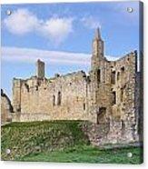 Warkworth Castle Panorama Acrylic Print