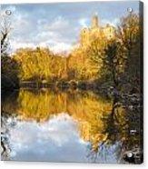 Warkworth Castle Reflected Acrylic Print
