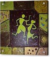 Warli Dance Acrylic Print