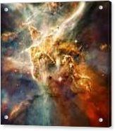 Warm Carina Nebula Pillar 3 Acrylic Print by Jennifer Rondinelli Reilly - Fine Art Photography