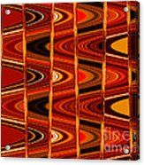 Warm Colors Lines And Swirls Abstract Acrylic Print