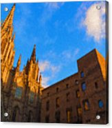 Warm Glow Cathedral - Impressions Of Barcelona Acrylic Print