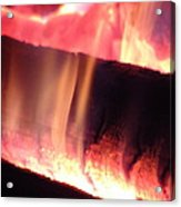 Warm Glowing Fire Log Acrylic Print