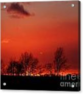 Warm January Sunset Acrylic Print