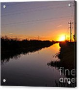 Warm Rural Sunset Acrylic Print