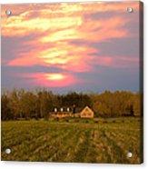 Warm Spring Sunset Acrylic Print