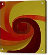 Warm Swirl Acrylic Print