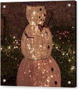 Warm Weather Snowman Acrylic Print