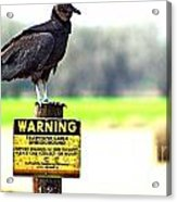 Warning Acrylic Print
