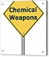 Warning Sign Chemical Weapons Acrylic Print