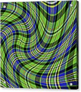 Warped Scott Ancient Green Tartan Acrylic Print