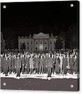 Warren Harding Elected President Election Night National Photo Co. White House Washington D.c.1920 Acrylic Print