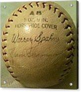 Warren Spahn Baseball Autograph Acrylic Print