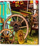 Warrenton Antique Days Wood Wheels And Wonders Acrylic Print