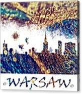 Warsaw Skyline Postcard Acrylic Print
