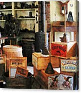 Washboards And Soap Acrylic Print by Susan Savad