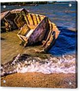 Washed Up Acrylic Print by Dawn OConnor