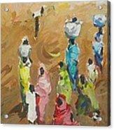 Washing Day Acrylic Print by Negoud Dahab
