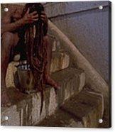 Varanasi Hair Wash Acrylic Print