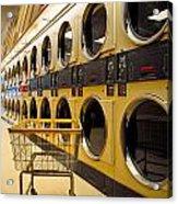 Washing Machines At Laundromat Acrylic Print