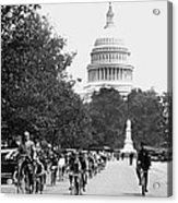 Washington Bicycle Parade Acrylic Print