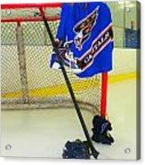 Washington Capitals Blue Away Hockey Jersey Acrylic Print