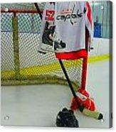 Washington Capitals Mike Green Away Hockey Jersey Acrylic Print