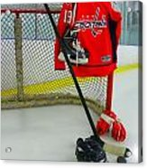 Washington Capitals Nicklas Backstrom Home Hockey Jersey Acrylic Print