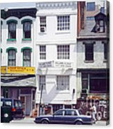 Washington Chinatown In The 1980s Acrylic Print by Thomas Marchessault