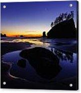 Washington Coast Sunset Pool Of Radiance Acrylic Print