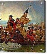 Washington Crossing The Delaware Emanuel Leutze 1851 Acrylic Print