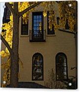 Washington D C Facades - Dupont Circle Neighborhood In Yellow Acrylic Print