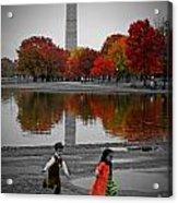 Washington Fall Children Acrylic Print