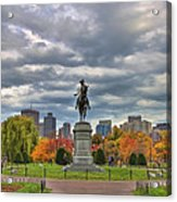 Washington In The Public Garden Acrylic Print by Joann Vitali