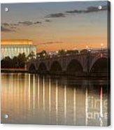 Washington Landmarks At Dawn I Acrylic Print
