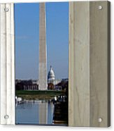 Washington Landmarks Acrylic Print