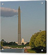 Washington Monument And Capitol Building-2 Acrylic Print