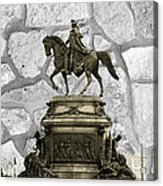 Washington Monument At Eakins Oval Acrylic Print