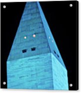 Washington Monument At Night Acrylic Print