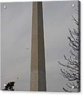 Washington Monument - Cherry Blossoms - Washington Dc - 01135 Acrylic Print