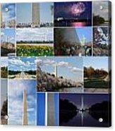 Washington Monument Collage 2 Acrylic Print