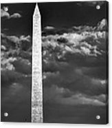 Washington Monument In Cloudy Sky Acrylic Print