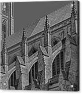Washington National Cathedral  Bw Acrylic Print