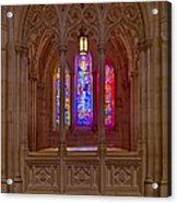 Washington National Cathedral Colors Acrylic Print