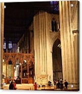 Washington National Cathedral - Washington Dc - 011312 Acrylic Print by DC Photographer
