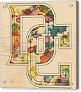 Washington Nationals Logo Art Acrylic Print